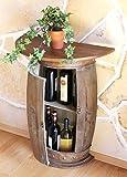 DanDiBo Table Murale Table Tonneau à vin 0373-R Brun Armoire Casier à vin...