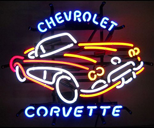 "Neonetics 5CORVX Cars and Motorcycles GM Corvette Car C1 1950s Neon Sign, 4"" x 22"" x 18"""