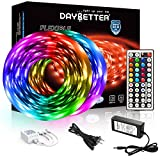 DAYBETTER Led Strip Lights 32.8ft 5050 RGB LEDs Color Changing Lights Strip for Bedroom, Desk, Home...