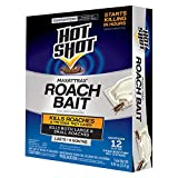 Hot Shot MaxAttrax Roach Bait 12 Count, Child-Resistant Bait Stations, 6-Pack