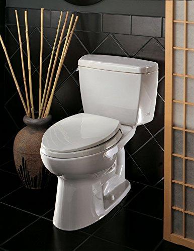 bestflushingtoilets - Toto Drake Review 2021 [Elongated & Round Toilet] TOTO CST744SL#12 Elongated Toilet