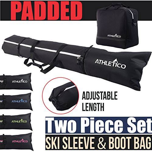 Athletico Padded Ski Bag Combo - Ski Bag & Separate Ski Boot...
