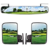 10L0L Newest Golf Cart Folding Side Mirrors and Rear View Mirror 16.5'...