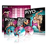 Chalene Johnson's PiYo Base Kit, DVD Workout with Exercise Videos + Fitness Tools and Nutrition Guide, Home Gym Bodyweight Workouts Program, Meals Plans and Tape Measure Included, 3 DVDs