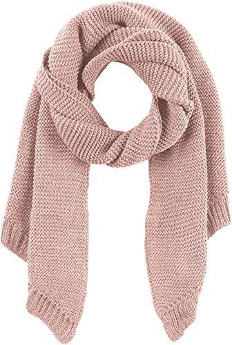 PIECES Damen PCDACE Long Wool Scarf NOOS Schal, Rosa (Peachskin Peachskin), One Size