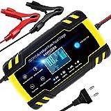 YDBAO Chargeur de Batterie Intelligent 8A 12V/24V Chargeur de Batterie...