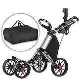 Caddytek facile pliage roue de chariot de golf 4 pousser / tirer et avec le...