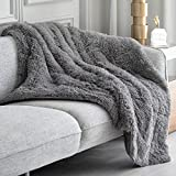 Topblan Faux Fur Weighted Blanket 15lbs, Shaggy Fuzzy Throw Blanket with Premium Sherpa Fleece, Warm...