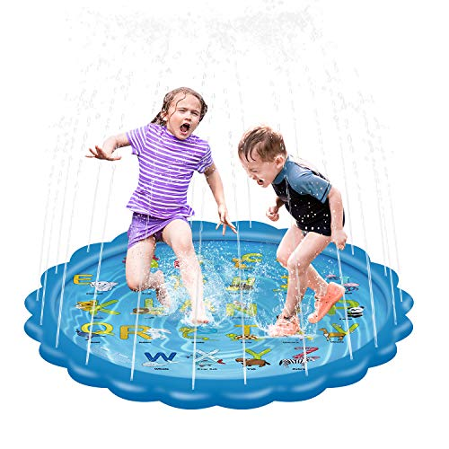 serene-freestyle-Splash-Play-Mat-Splash-Play-MatOutdoor-Sprinkle-and-Splash-Water-Play-Mat-Party-Sprikler-Splash-Pad-68-Garden-Water-Toys-Summer-Spray-Outdoor-Toys-Fun-for-Children-Toddlers-Kids