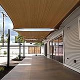 Patio Paradise 12' x 16' Brown Sun Shade Sail Rectangle Canopy - Permeable UV Block Fabric Durable Outdoor - Customized Available