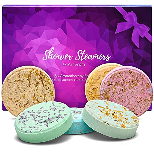 Cleverfy Aromatherapy Shower Steamers - Variety Pack of 6...