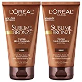 L'Oreal Paris Sublime Bronze Tinted Self-Tanning Lotion, 2 count