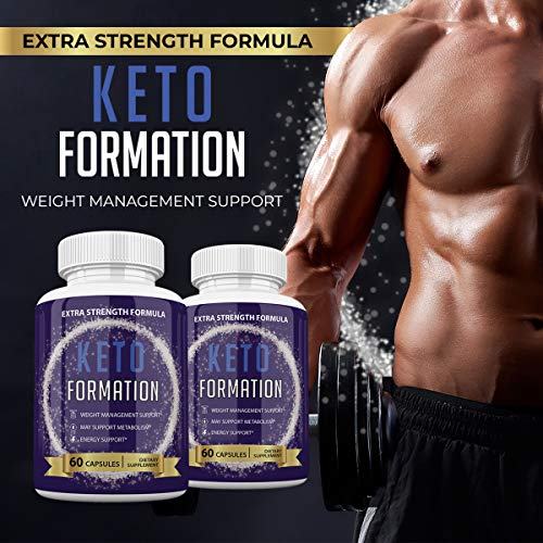 Keto Formation Extra Strength Formuila - Energy - Weight Management and Metabolism Support - 6o Capsules - 1 Month Supply 6