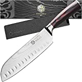 Kessaku Santoku Knife - Samurai Series - Japanese Etched High Carbon Steel