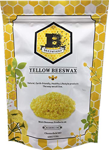 Beeswax Pellets, Yellow, 1lb-Cosmetic Grade-Triple Filtered Beeswax.