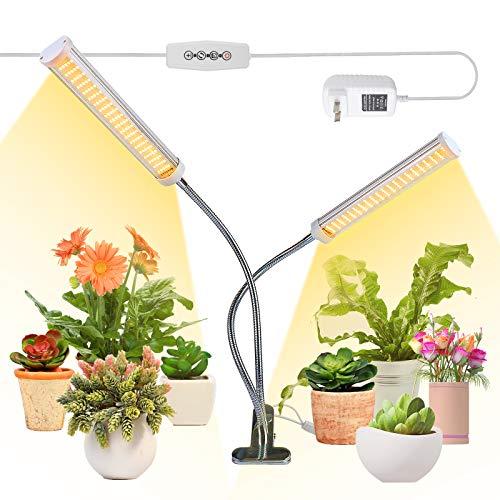 Pflanzenlampe LED, 100W Pflanzenlicht, 210 LEDs Vollspektrum Pflanzenleuchte für Zimmerpflanzen, Wachstumslampe mit Zeitschaltuhr, 5 Stufen Helligkeit,3 Lichter Modi, Grow Light für Garten