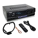 300 Watt Home Audio Power Amplifier - Stereo Receiver w/USB, AM FM Tuner,2 Microphone Input w/Echo for Karaoke,Great Addition to Your Home Entertainment Speaker System - Pyle PT560AU