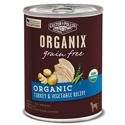 Castor & Pollux Organix Organic Grain Free Organic Turkey & Vegetable Recipe Wet Dog Food, 12.7 Oz., Case Of 12 Cans