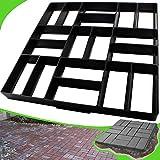 CJGQ Plus Size 19.7'x19.7'x1.7' Concrete Molds Walk Maker Reusable Path Brickform Paver Lawn Patio Yard Garden DIY Walkway Pavement (18 Bricks)