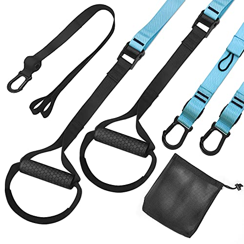 FITOP Suspension Training Fitness Pro Suspension Trainer Exercise for Strengthening Resistance and Muscle Toning Exercise Accessory Set Load up to 500 Kg