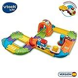 VTech- Circuito de Tren TutTut Bólidos Playset Interactivo, Incluye vehículo con Remolque (80-152122), 35.1 x 28.4 x 12.2 (3480-152122)