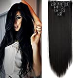 26' Extension a Clip 8 Bandes - Extensions Cheveux Clips Lisse - Clip in...