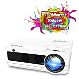 Projector, YABER Native 1080P Movie Projector with 6500 Lumens 78,000 Hours X/Y Zoom Function, Full...