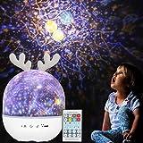Veilleuse Enfant Étoiles Projecteur - Rotatif Starry Lampe Projection...