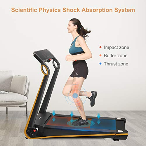 Fisup Foldable Smart Treadmill for Home Office Use Exercise Walking Jogging Silent with APP Installation Free 7