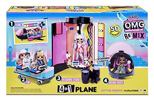 Image 12 - LOL Surprise OMG Avion Remix 4-en-1 - Avec 50 surprises - Se transforme en Avion, Voiture, Studio d'enregistrement et Salle de mixage