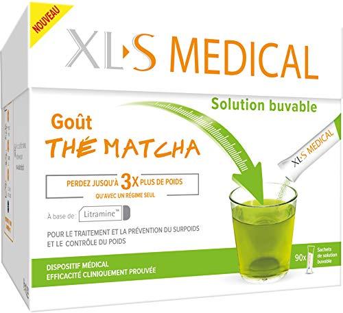 XL-S MEDICAL Solution Buvable - Aide à la Perte de Poids – Goût Thé Matcha – 90 Sachets