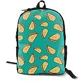 Mochila multiusos Sushi Time Nom Nom para ordenador portátil, con correas ajustables para el hombro, mochilas elegantes para la escuela universitaria Sweet Potato Tacos