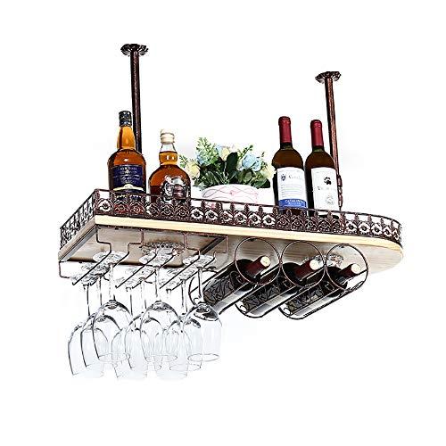 BLWX-Wine RACK LY-Mobili cantinetta Porta Bicchiere da Vino da soffitto Portabottiglie Altezza...