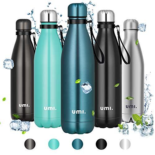 Amazon Brand - Umi Botella Agua Acero Inoxidable, Termo 750ml, Sin...