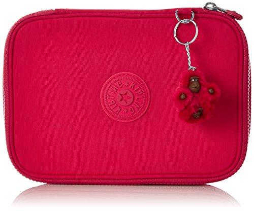 Kipling 100 Pens Astuccio, 25 cm, Rosa (True Pink), sintetico
