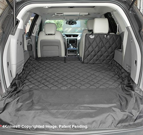 4Knines SUV Cargo Liner for Fold Down Seats - Heavy Duty - 60/40 Split and Armrest Pass-Through Compatible - USA Based Company (Large, Black)