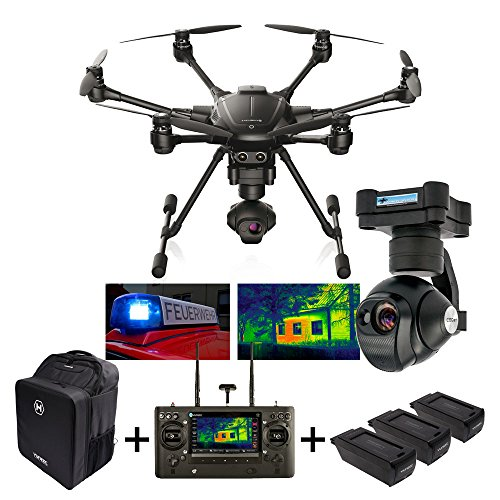 YUNEEC Typhoon H Drone Professionale con Display Touch e Gimbal a 3 assi + Videocamera e termocamera