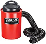 General International 2-in-1 9.2A Portable 13 Gallon dust collector with metal dust collection drum - BT8008