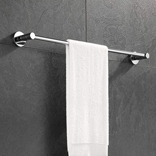 ubeegol Edelstahl Handtuchhalter 60cm Badetuchhalter Wand Handtuchstange Bad Wandmontage Gästehandtuchhalter Handtuchleiste Badetuchstange Chrom