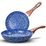 MICHELANGELO Nonstick Frying Pans, Granite...