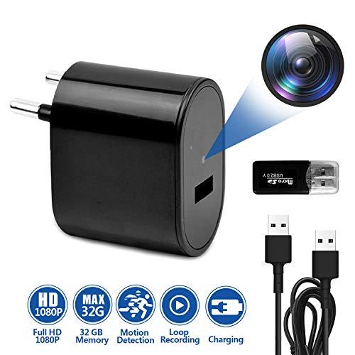 Vsadey Mini Telecamera Spia Full HD 1080P Nascosta Microcamera Mini Camera, Rilevamento di Movimento Registrazione in Loop - per Esterno/Interno