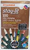 Sylvania Stay-Lit Platinum 100 - 3 Function Color Changing LED Mini Lights - Warm White & Multi - 2017 New & improved Connectors