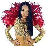 ZUCKER Feather Carnival Costume Samba Collar - Cosplay/Halloween Costumes - Red
