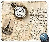 Alfombrilla de raming de Costura de precisión, Vintage Old Paper y Watch...