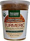 Feelgood Organic Superfoods Supports Healthy Inflammation Response Turmeric Powder 16 OZ(453g) Fortified with 95% Curcumin Complex