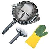 RenFox Kit de Nettoyage Piscine, Filet de Écumoire Fines Kit, Nettoyage Piscine pour, Aquarium, Bassins, Tub Nettoyage Efficace Trop, Contient Une Brosse...