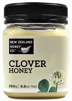 Miele di trifoglio di New Zealand Honey Co. | 250g | Delizioso miele di trifoglio bianco proveniente dall'Isola del Sud della Nuova Zelanda | La compagnia di miele della Nuova Zelanda