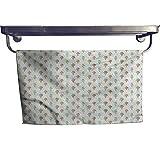 alisoso Ice Cream Bathroom Hand Towels Gym Hand Towels 10x10 Inch Summer Dairy Dessert