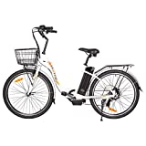 ECOTRIC 26' Electric City Tire Bike Powerful Bicycle EBike 350W Motor 36V 10AH Moped Throttle &...