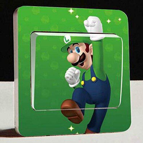 Lichtschaltersticker Wandtattoo Super Mario Bros Luigi